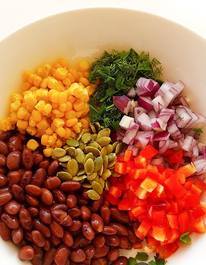 Salată mexicană de fasole roșie 2