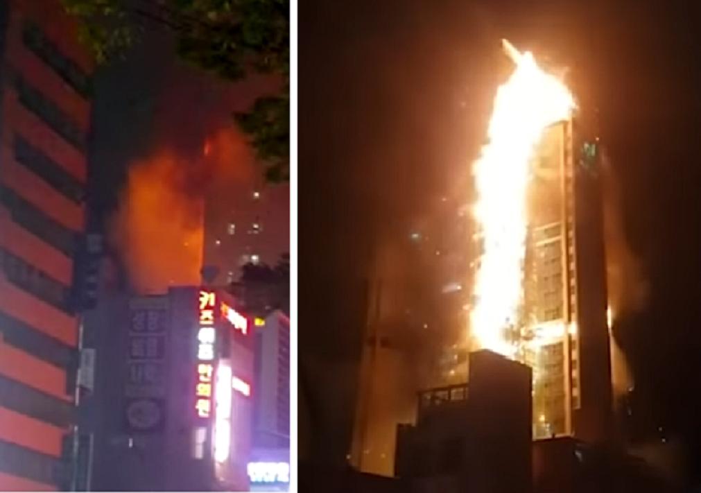 incendiu în coreea de sud