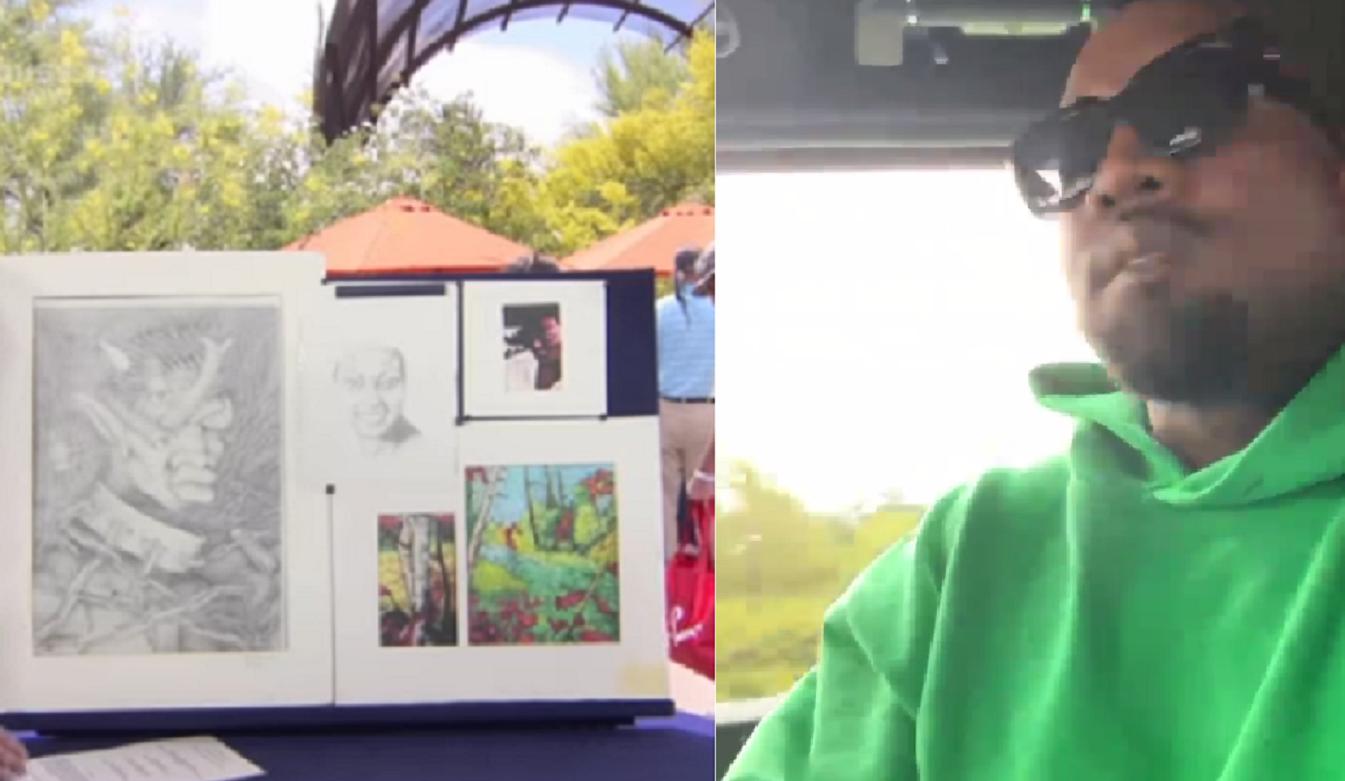 Tablourile din adolescența lui Kanye West vândute