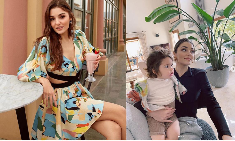 Hande Ercel și nepoata ei